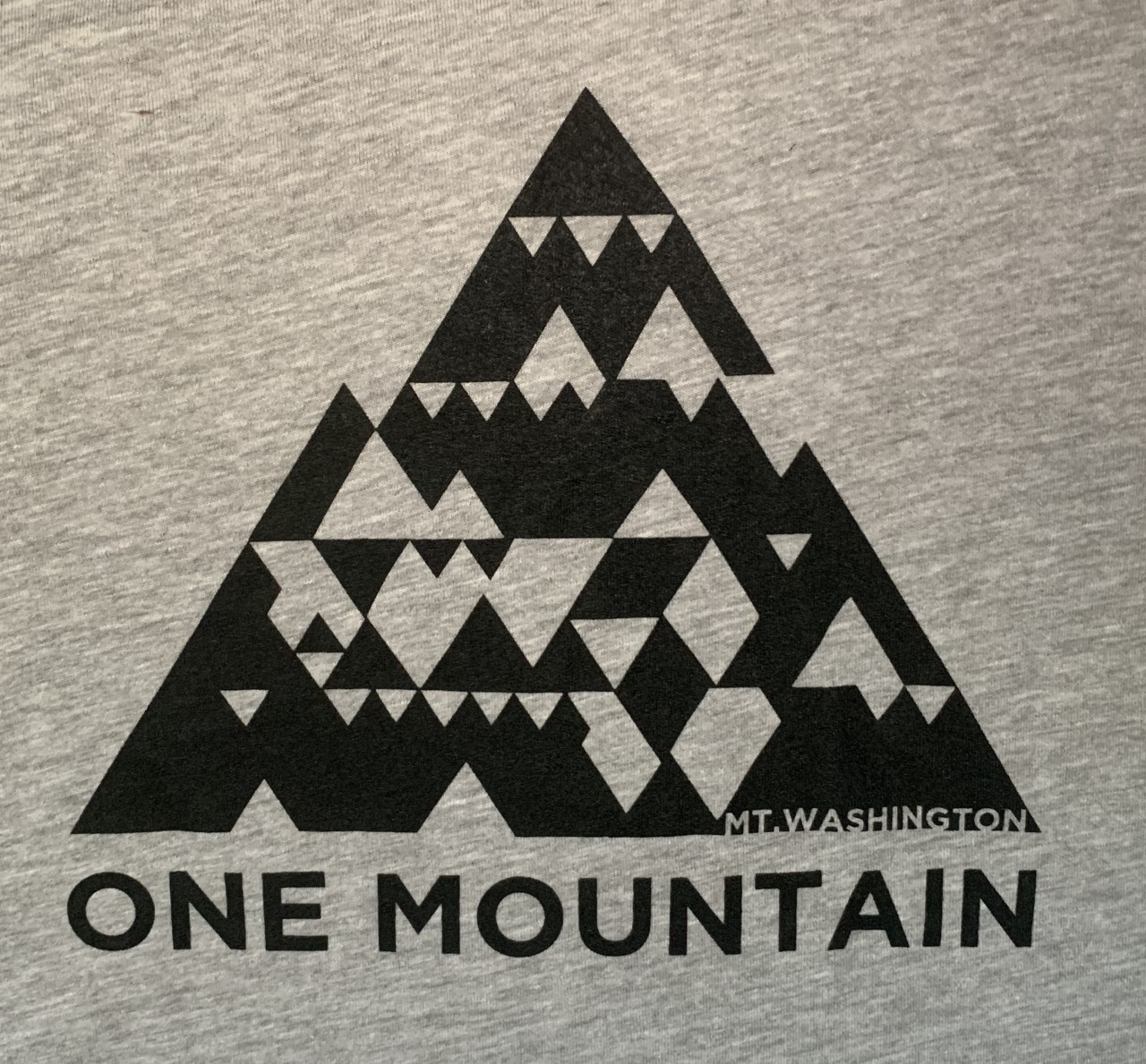 Youth Crewneck Tee - Heather Grey/Black One Mountain