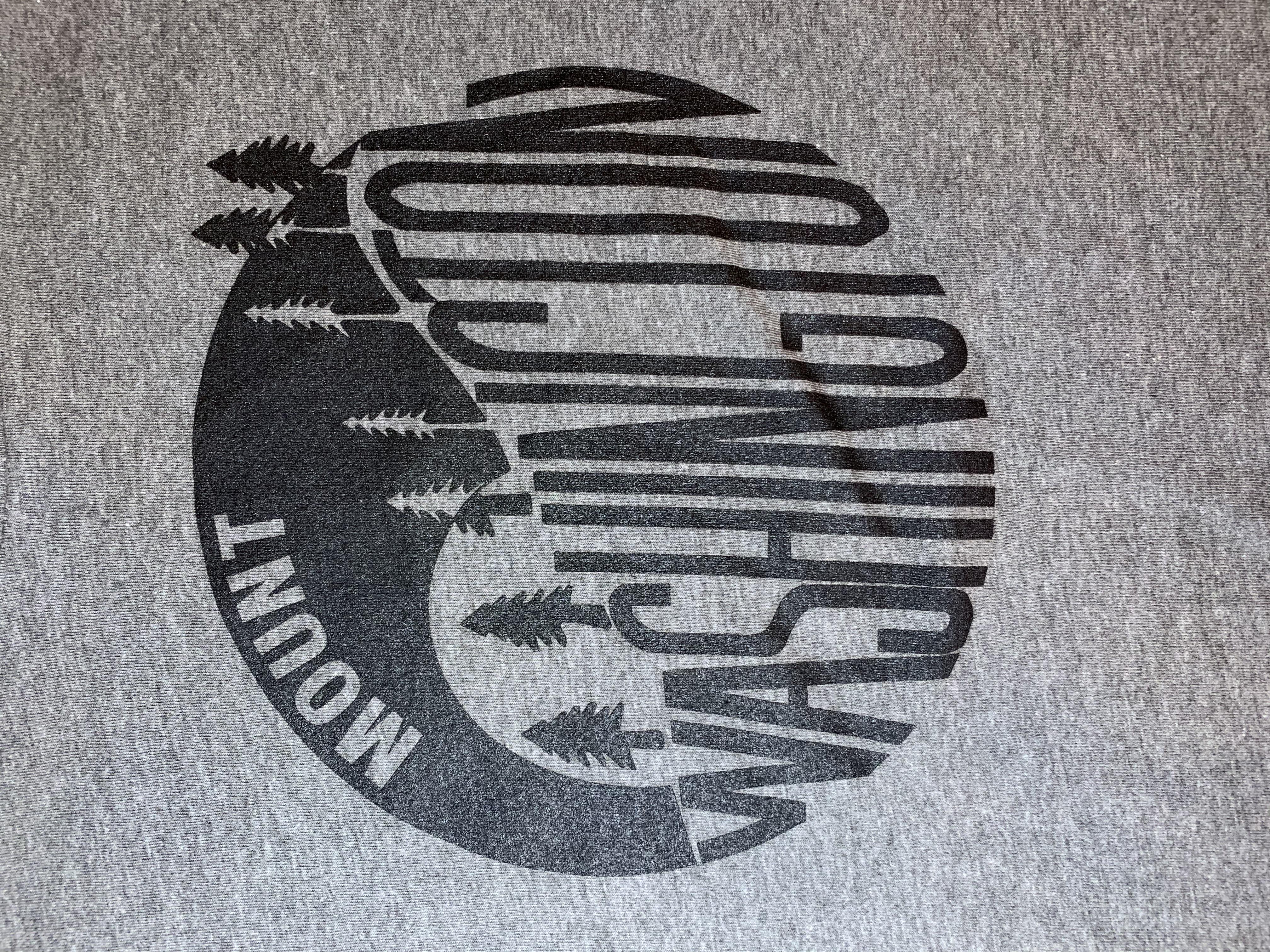 Adult Crewneck Tee - Deep Heather/Black Vintage Logo